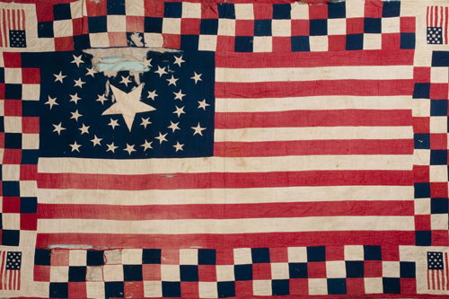 1864 Civil War Flag Quilt