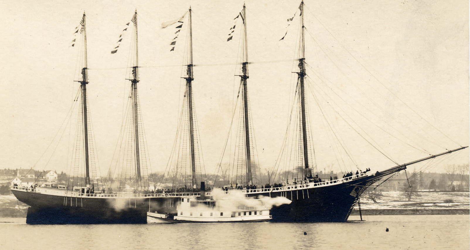 5 Mast Ship Jenny F Kreger