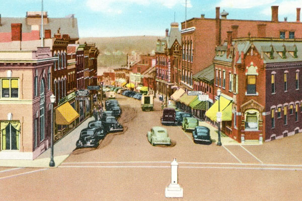 1930s Main Street Belfast Maine