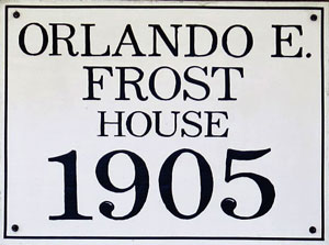 O E Frost house historic house marker